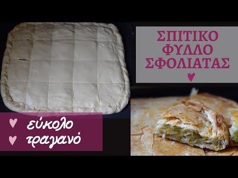 Φύλλο σφολιάτας για αλμυρές ή γλυκιές πίτες - evicita.gr
